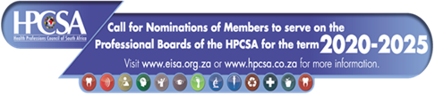 Nominations for new HPCSA Professional Boards 2020 now open.